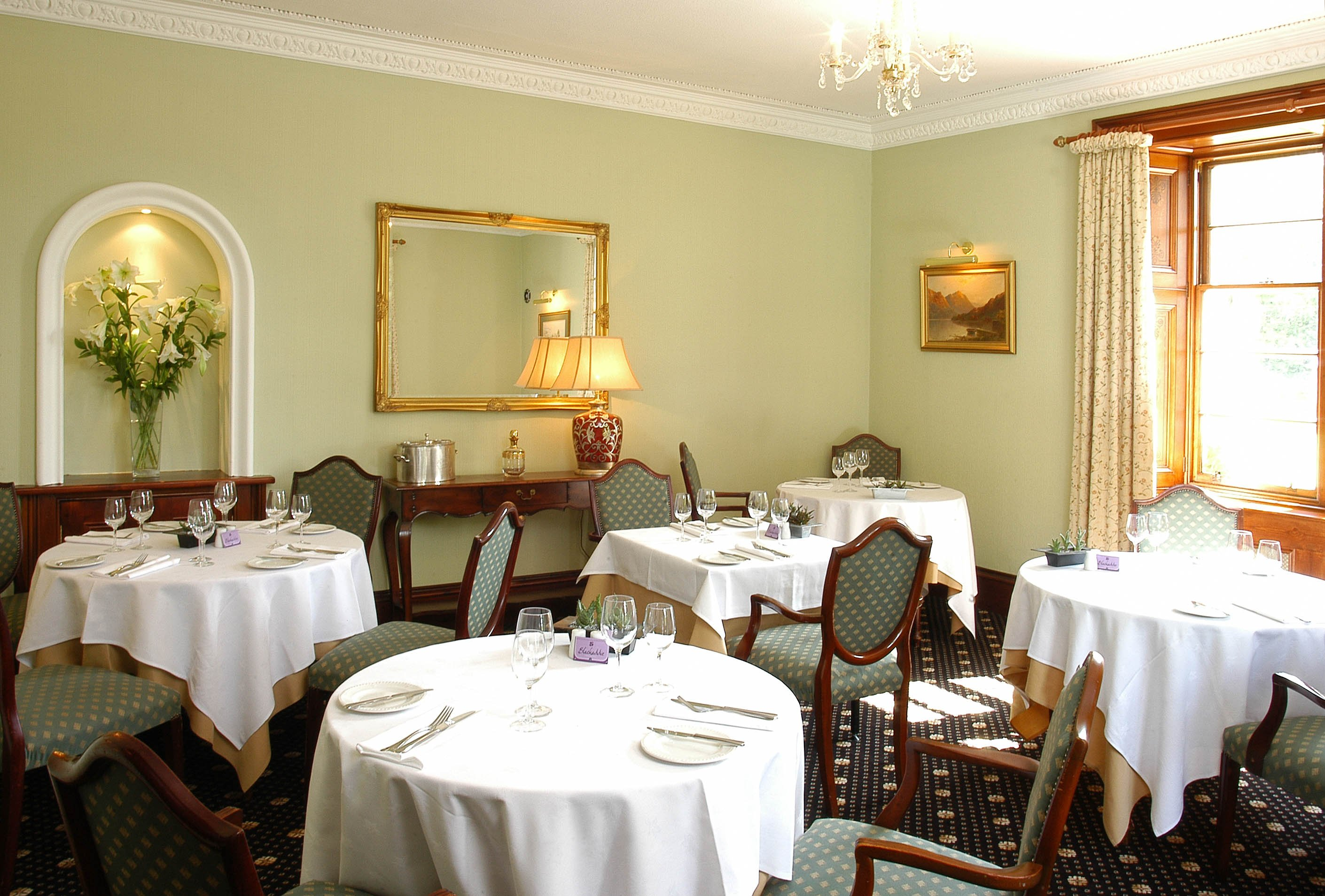 The dining room at Blackaddie House Hotel