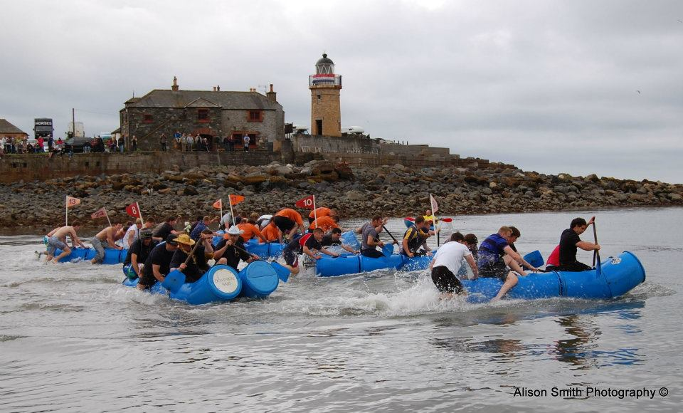 raft race portpatrick lifeboat week by Alison Smith